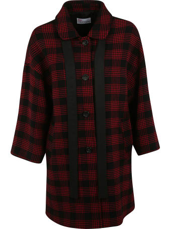 RED Valentino Checked Coat