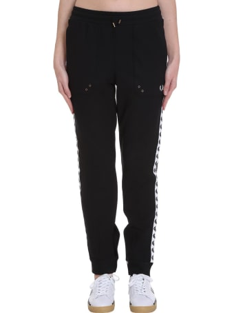 Fred Perry Pants In Black Polyester