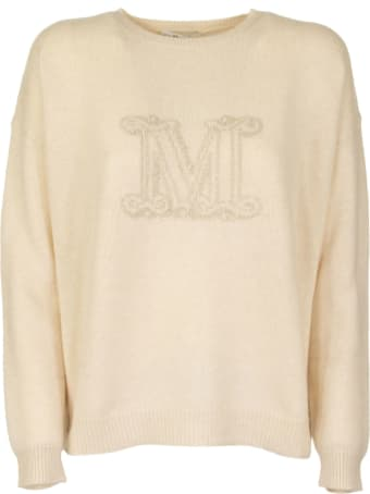 Max Mara Cashmere Yarn Jumper Udine Beige Knitwear