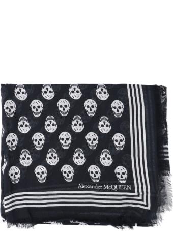 Alexander McQueen Biker Skulls Scarf