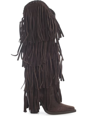 Dsquared2 High Boot W/fringes
