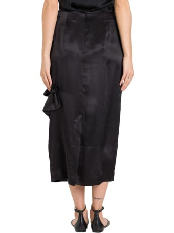 Simone Rocha Long Skirt With Ruches And Cut-out Details