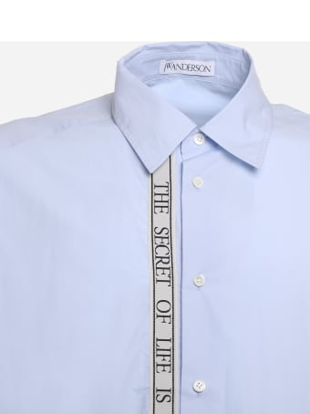 J.W. Anderson Cotton Shirt With Contrasting Embroidered Ribbon