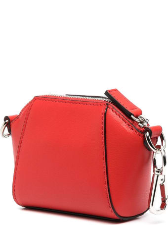 Givenchy Red Baby Antigona Bag With Chain
