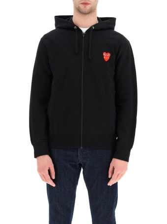 Comme des Garçons Shirt Boy Full Zip Sweatshirt With Logo Patch