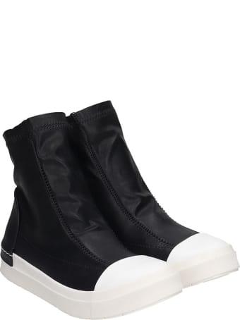 Cinzia Araia Sneakers In Black Leather