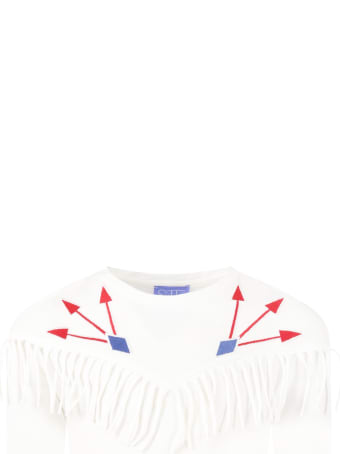 Stella Jean White T-shirt For Girl With Arrows