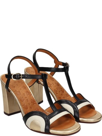 Chie Mihara Banella Sandals In Black Leather