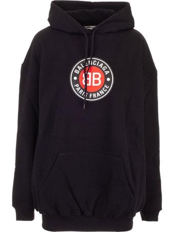 Balenciaga Logo Oversize Hoodie