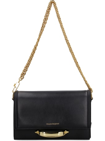 Alexander McQueen The Story Leather Shoulder Bag