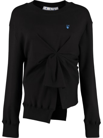 Off-White Cotton Crew-neck Sweatshirt