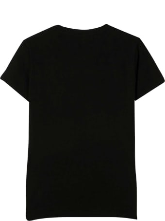 Young Versace Black T-shirt With Golden Print