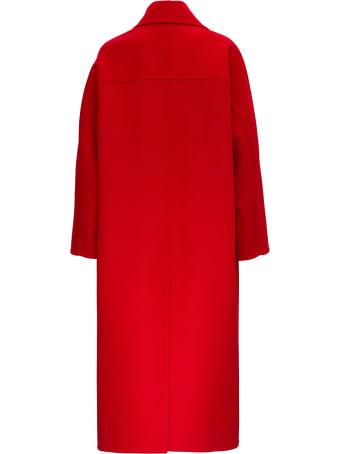 Valentino Wraparound Coat In Cashmere And Wool