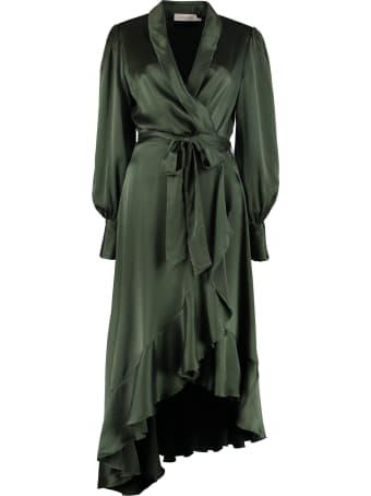 Zimmermann Espionage Silk Wrap-dress