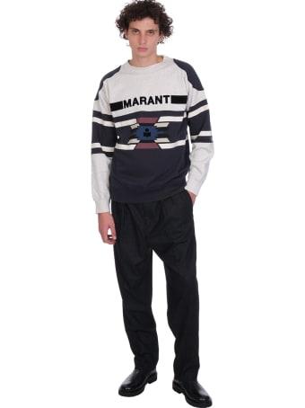 Isabel Marant Pallian Sweatshirt In Beige Cotton