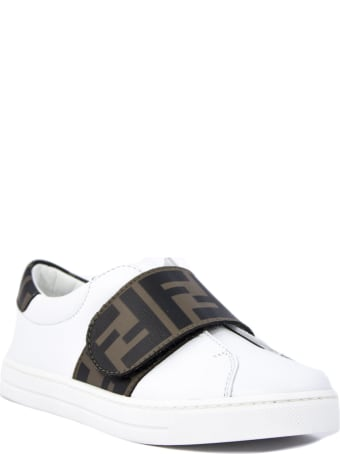 Fendi White Leather Sneakers