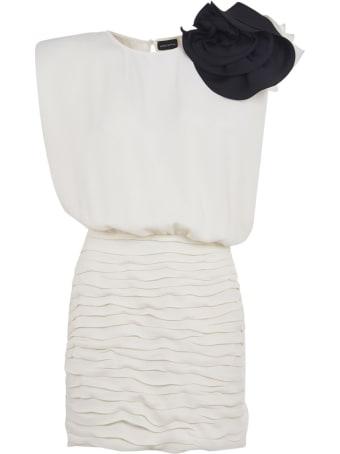 Magda Butrym Floral Applique Sleeveless Short Dress
