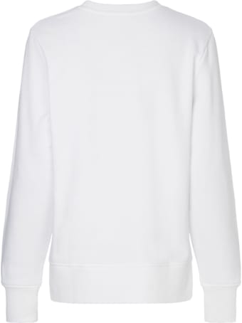 Tommy Hilfiger White Cotton Sweatshirt