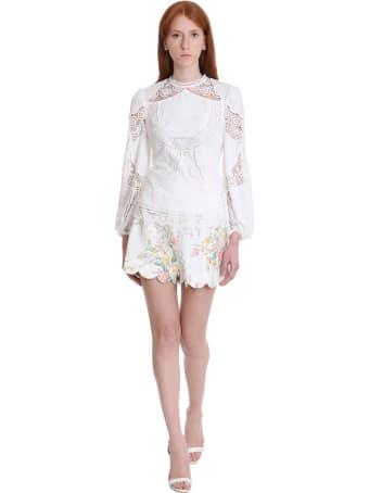 Zimmermann Blouse In White Cotton