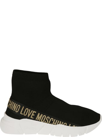 Love Moschino Glittery Logo Sock Sneakers