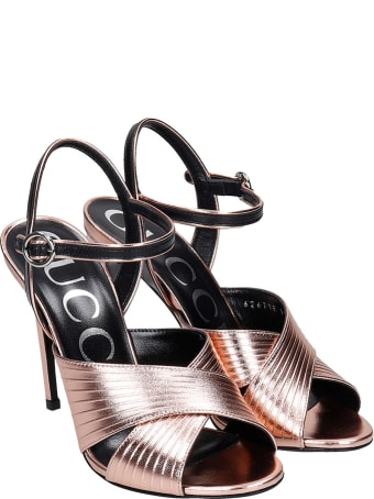 Gucci Sandals In Rose-pink Leather