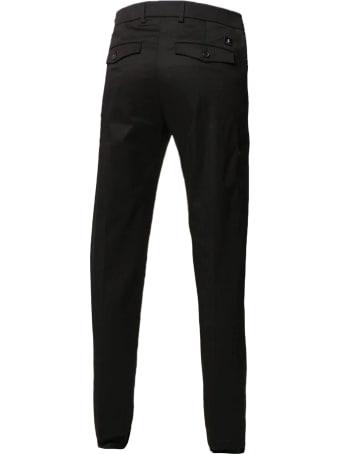 Department 5 Black Cotton-blend Trousers
