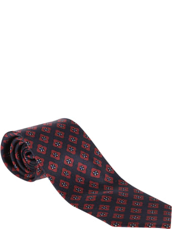 Barba Napoli Red And Blue Silk Tie