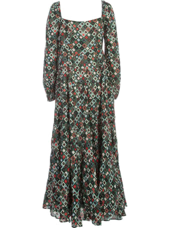 RIXO Dress L/s Wide Neck