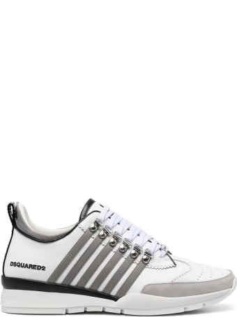 Dsquared2 Man White And Grey 251 Sneakers