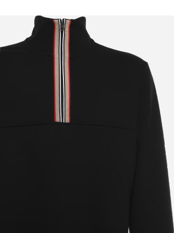 Burberry Sweatshirt With Ribbon With Iconic Striped Pattern