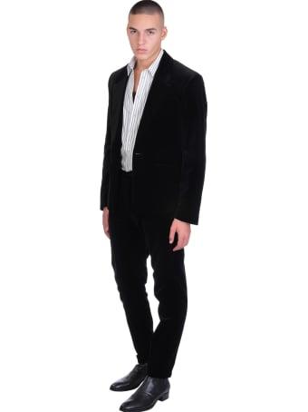 Rochas Blazer In Black Velvet