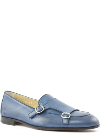 Doucal's Light Blue Leather Loafer
