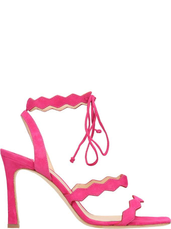 The Seller Fuchsia Suede Sandals