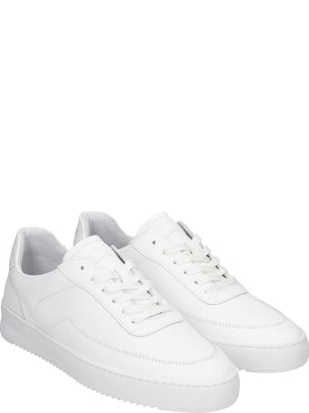 Filling Pieces Mondo 2.0 Rippl Sneakers In White Leather