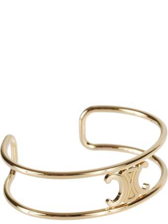 Celine Logo Plaque Bracelet