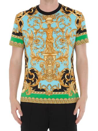 Versace Patterned Logo Tshirt