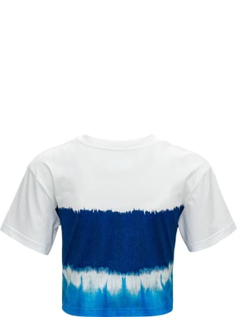 Alberta Ferretti Capsule 'i Love Summer'  Cotton Short Sleeves Cropped Tye Dye Tee