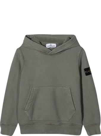 Stone Island Junior Gray Sweatshirt