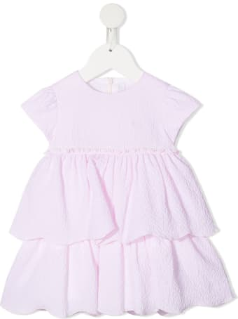 Il Gufo Newborn Pink Dress With Flounces