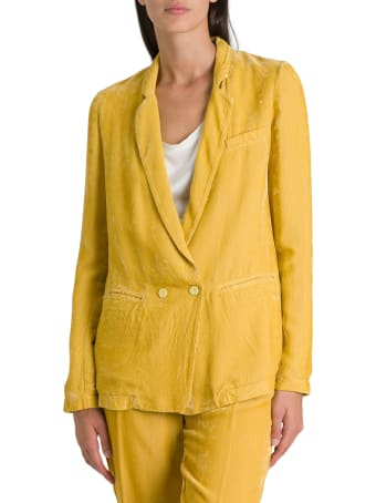 Forte_Forte Double-breasted Jacket In Needlecord