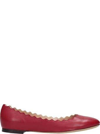 Chloé Lauren Ballet Flats In Red Leather
