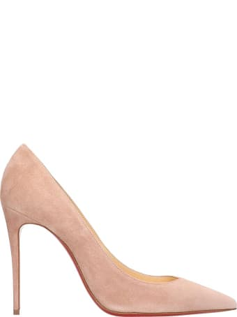 Christian Louboutin Kate 100 Pumps In Rose-pink Suede