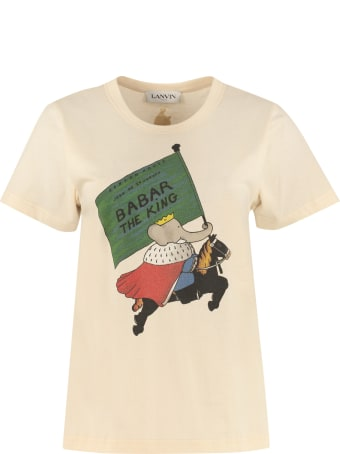 Lanvin Babar King Print Cotton T-shirt