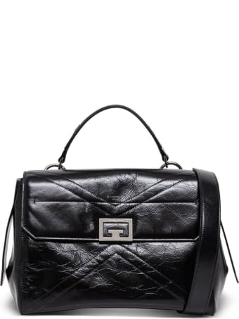 Givenchy Medium Flap Handbag In Shiny Black Leather