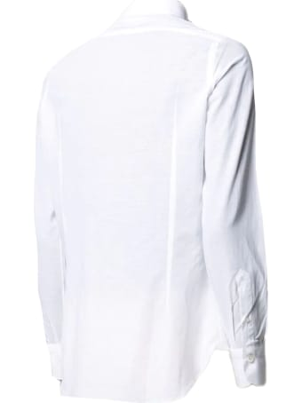 Finamore White Cotton And Linen Shirt
