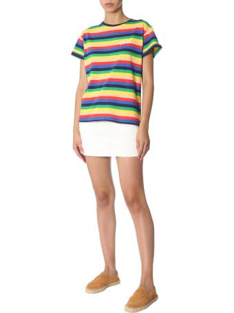 Etre Cecile Rainbow Striped T-shirt