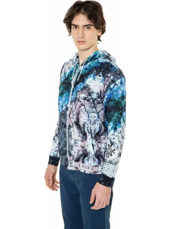 Mr & Mrs Italy Marble-printed Sweatshirt For Man