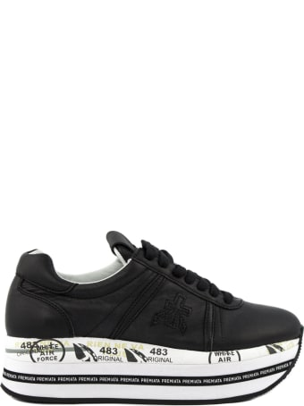 Premiata Beth Sneakers In Black Leather