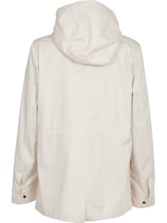 Woolrich White Parka With Hood