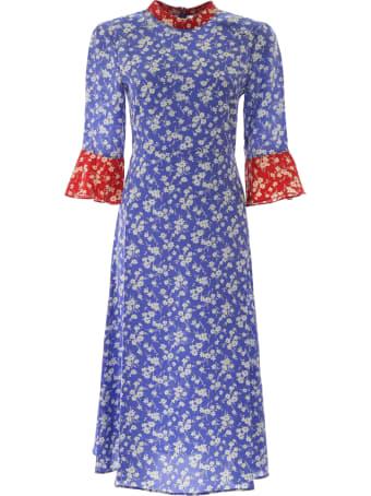 HVN Floral-printed Ashley Dress